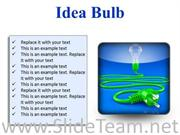 IDEA BULB BUSINESS POWERPOINT PRESENTATION SLIDES S