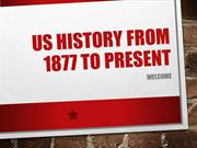 US History to 1877 to Present