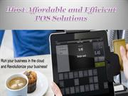 Most Affordable and Efficient POS Solutions ppt