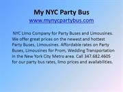 My NYC Party Bus – NYC Limousines – NYC Sedans