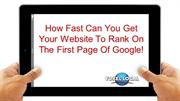 How Fast Can Your Rank On 1st Page of Google