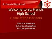 Back To School St. Francis