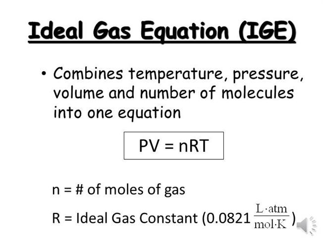 Ideal Gas Law Equation