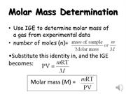Molecular Mass Determination (IGE)