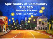 Spirituality of Community Presentation
