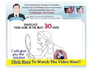 Acne No More By Mike Walden & Acne No More Video