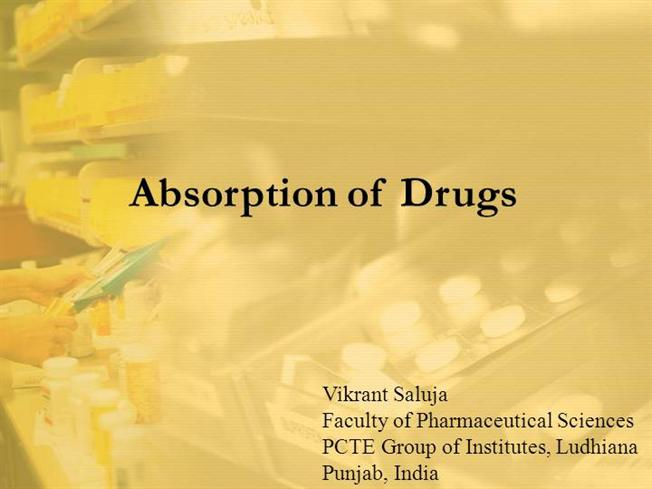 Absorption of Drugs |authorSTREAM