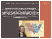 The united states doubles in size
