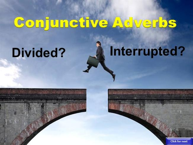 Conjunctive Adverbs Interrupters Authorstream