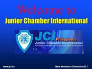 New member orientation ppt JCI
