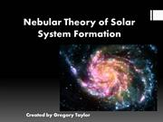 nebular theory of solar system formation