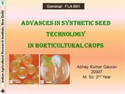 Synthetic seed- Seminar