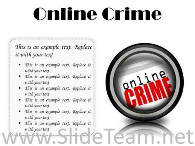 online crime internet powerpoint presentation slides cc powerpoint