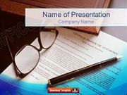 Legal Document PowerPoint Template Backgrounds
