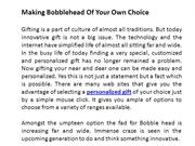 Making Bobblehead Of Your Own Choice