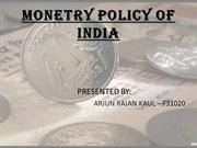 monetary policy of india