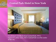 Central park hotel in New York