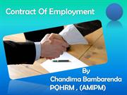 CCHRM-CONTRACT OF EMPLOYMENT