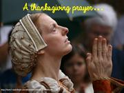 Thanksgiving Prayer- Prayer of thanks to God