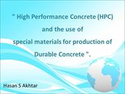 High Performance Concrete (HPC) Final