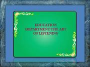 Education department The Art Of Listening