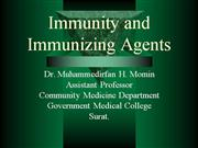 Immunity and Immunizing Agents