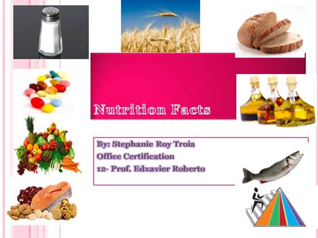 nutrition facts powerpoint authorstream