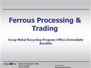 Scrap Metal Recycling Program Offers Immediate Benefits