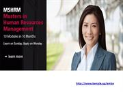 Executive Master of Business Administration (EMBA) in Singapore
