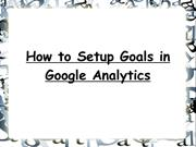 How to Setup Goals in Google Analytics