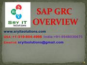 SAP GRC ONLINE TRAINING | SAP GRC TRAINING | SRYIT SOLUTIONS