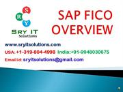 SAP FICO ONLINE TRAINING | SRYIT SOLUTIONS