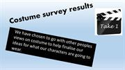Costume survey results