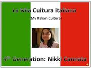 Powerpoint about culture in italian