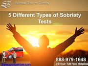 5 Different Types of Sobriety Tests