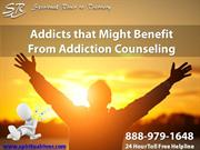 Addicts that Might Benefit From Addiction Counseling