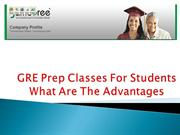 GRE Prep Classes For Students What Are The Advantages