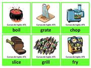 FLASHCARDS - COOKING VERBS