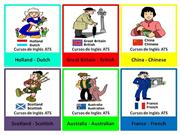 FLASHCARDS - COUNTRIES AND NATIONALITIES