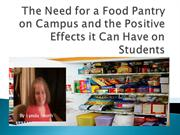 The Need for a Food Pantry on Campus final