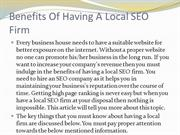Benefits Of Having A Local SEO Firm