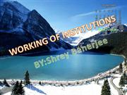 working of institutions ppt