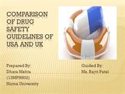 Comparison of US, UK  country's Drug Safety Guidelines