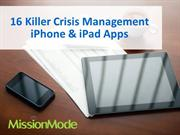 Killer Crisis Management Apps for iPhone & iPad