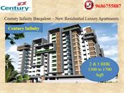 Century  Infinity New Housing Project at Bangalore | 9686755887