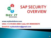 SAP SECURITY ONLINE TRAINING | SAP SECURITY COURSE DETAILS