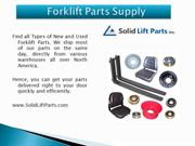 New & Used Forklift Parts
