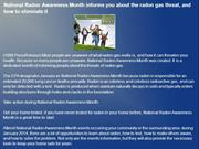 National Radon Awareness Month informs you about the radon gas threat