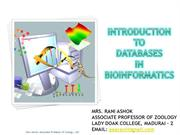 introduction to Databases in bioinformatics