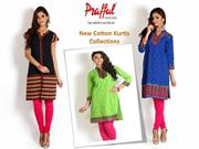Buy Cotton Kurtis Online at Prafful !